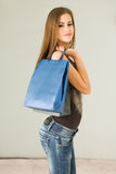 Gorgeous young shopper. Stock Image
