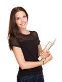 Gorgeous young student girl. Stock Photos