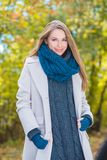 Gorgeous young woman in autumn fashion Royalty Free Stock Photos