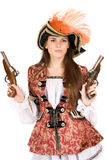 Gorgeous young woman with guns Stock Image