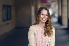 Gorgeous young woman with a happy smile Royalty Free Stock Images
