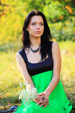 Gorgeous young woman outdoors Royalty Free Stock Image