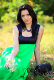 Gorgeous young woman outdoors Royalty Free Stock Photography