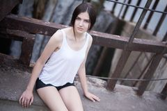 Gorgeous young woman photoshoot Stock Image