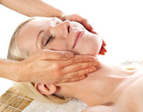Gorgeous young woman relaxing in a spa salon Royalty Free Stock Photo