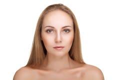 Gorgeous young woman on white background Stock Photos