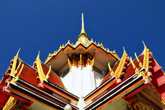 Gorgeously crafted pavilion at Buddhist temple Royalty Free Stock Image