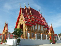 Gorgeously crafted Thai temple Royalty Free Stock Photography