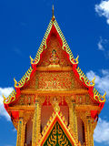 Gorgeously crafted Thai temple Wat Na Mai Royalty Free Stock Photos