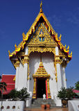 Gorgeously crafted Thai temple Royalty Free Stock Photo