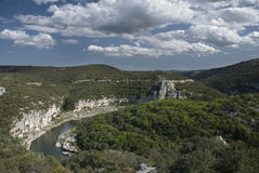 Gorges d'Ardèche. La France Photographie stock libre de droits