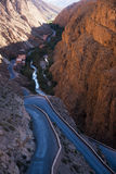 Gorges of dades. The beautiful view of the gorges of dades Stock Photo