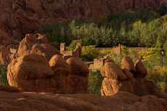 Gorges de Dades, Atlas Mountain in Morocco. Monkey fingers. Stock Images