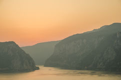 Gorges de Danube Images stock