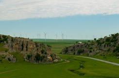 Gorges de Dobrogea de formations de roche de chaux de paysage, Roumanie images libres de droits