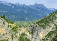 Gorges de Guil 免版税图库摄影