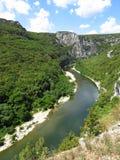 Gorges a de l'Ardeche, Francia Foto de archivo libre de regalías