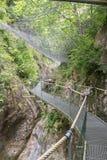 Gorges de la Fou walkway 2 Stock Image