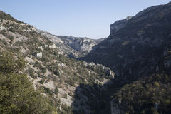 Gorges de la Nesque Canyon in Provence, France Stock Image