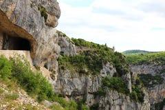 Gorges de la Nesque in southern France Stock Image