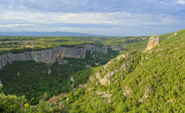 Gorges de Lourmarin. Seen from the Fort de Buoux (Citadelle du Luberon) in Provence, France Royalty Free Stock Image