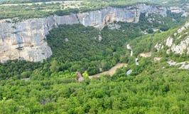 Gorges de Lourmarin seen from Fort de Buoux Stock Photo