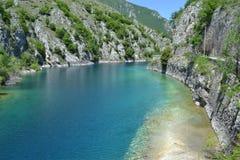 Gorges de Sagittario Image stock