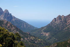 Gorges de Spelunca, Evisa, Corsica, France Stock Photos
