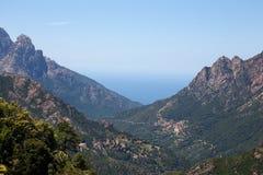 Gorges DE Spelunca, Evisa, Corsica, Frankrijk Stock Foto's