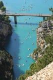 Gorges du维登,法国 免版税图库摄影