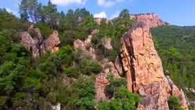 Gorges du Blavet - VAR - Γαλλία απόθεμα βίντεο