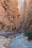 The Gorges du Dades valley with river, Morocco Stock Photo