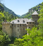 Gorges du Tarn, castle Stock Photography