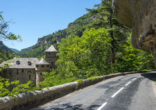 Gorges du Tarn, castle Royalty Free Stock Photo