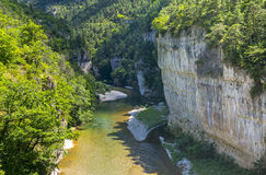 Gorges du Tarn. (Lozere, Linguedoc-Roussillon, France), famous canyon at summer Royalty Free Stock Image