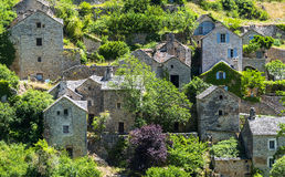 Gorges du Tarn, village Stock Photo