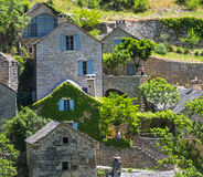 Gorges du Tarn, village Royalty Free Stock Photo