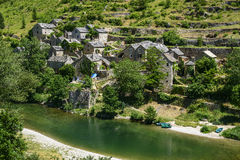 Gorges du Tarn, village Stock Images