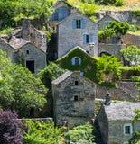 Gorges du Tarn, village Royalty Free Stock Photos