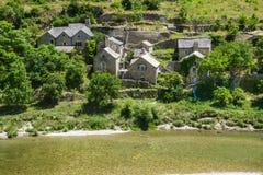Gorges du Tarn, village Royalty Free Stock Photo