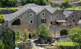 Gorges du Tarn, village Stock Photos