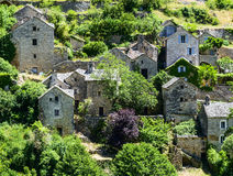 Gorges du Tarn, village Stock Photography