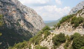 gorges du Verdon,法国的大峡谷 免版税库存照片