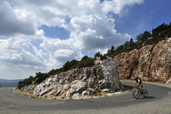 Gorges du Verdon Biking Stock Image