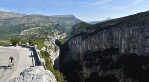 Gorges du Verdon Biking Stock Photos