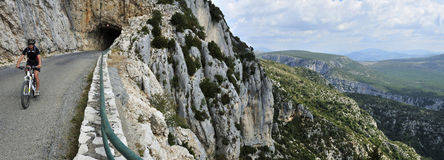 Gorges du Verdon Biking Stock Photography