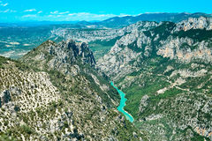 Gorges du Verdon canyon and river. Alps Provence Royalty Free Stock Photos