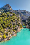 Gorges Du Verdon Canyon Between Two Cliffs-,France Stock Photo