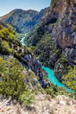 Gorges Du Verdon Canyon Between Two Cliffs-,France Royalty Free Stock Image