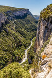 Gorges Du Verdon Canyon Between Two Cliffs-,France Stock Images